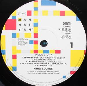 Grace Jones: Inside Story (LP) - Bild 3
