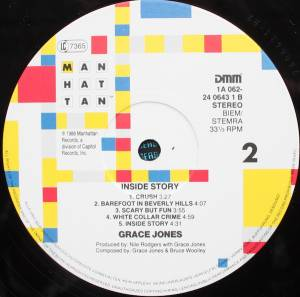 Grace Jones: Inside Story (LP) - Bild 4