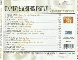Country & Western Festival 3 - 16 Greatest Country Songs (CD) - Bild 2