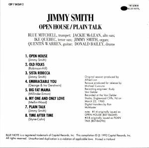 Jimmy Smith: Open House / Plain Talk (CD) - Bild 2