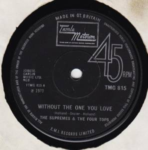 Cover - Supremes & The Four Tops, The: Without The One You Love