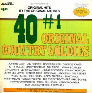 Cover - Ray Price: 40 #1 Original Country Goldies