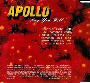 Apollo: Say You Will (Single-CD) - Bild 2
