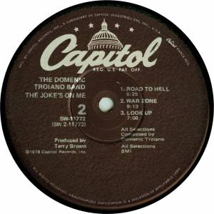 Domenic Troiano Band: The Joke's On Me (LP) - Bild 4