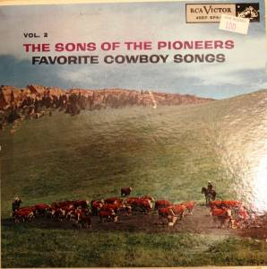 Cover - Sons Of The Pioneers, The: Favorite Cowboy Songs