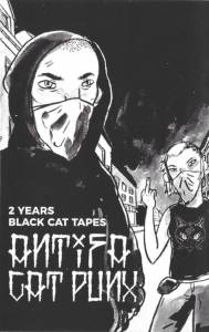 Cover - Affenmesserkampf: Antifa Cat Punx - 2 Years Black Cat Tapes