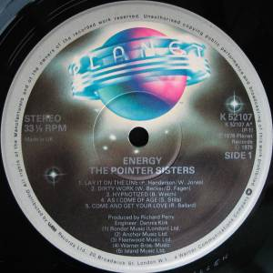 The Pointer Sisters: Energy (LP) - Bild 3