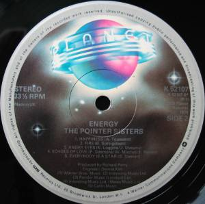 The Pointer Sisters: Energy (LP) - Bild 4