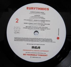 Eurythmics: Be Yourself Tonight (LP) - Bild 8