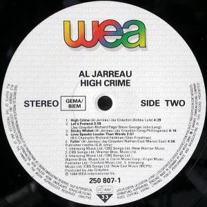 Al Jarreau: High Crime (LP) - Bild 3