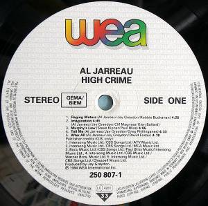 Al Jarreau: High Crime (LP) - Bild 4