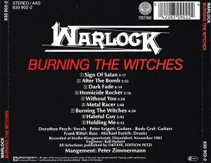 Warlock: Burning The Witches (CD) - Bild 2