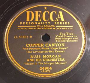 Cover - Russ Morgan And His Orchestra: Copper Canyon