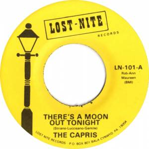 Cover - Capris, The: There's A Moon Out Tonight