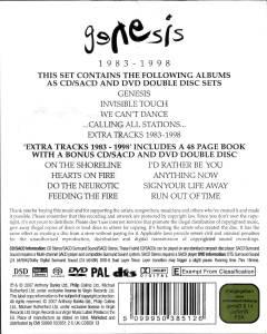 Genesis: Box Set 1983-1998 - 5-SACD + 5-DVD (2007, Remastered)
