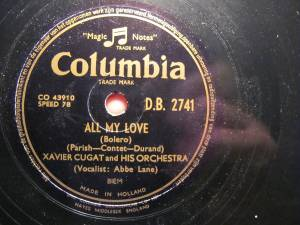 Cover - Xavier Cugat & His Orchestra: All My Love
