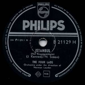 Cover - Four Lads, The: Istanbul (Not Constantinople) / I Should Have Told You Long Ago