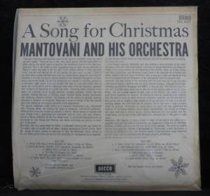 The Mantovani Orchestra: A Song For Christmas (LP) - Bild 2