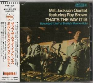 Milt Jackson Quintet Feat Ray Brown: That's The Way It Is (CD) - Bild 1