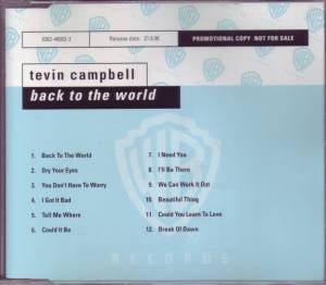 Cover - Tevin Campbell: Back To The World