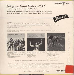 "Louis Armstrong: Swing Low Sweet Satchmo Vol. 3 (7"") - Bild 2"