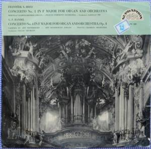 Cover - František Xaver Brixi: Concerto No. 1 In F Major For Organ And Orchestra / Concerto For Organ And Orchestra