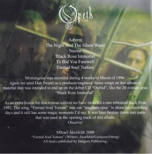 Opeth: Morningrise (CD) - Bild 6