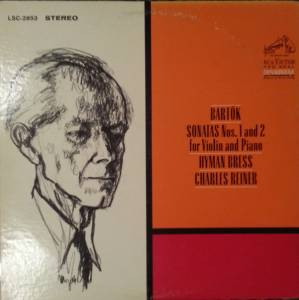 Béla Bartók: Sonatas Nos. 1 And 2 For Violin And Piano (LP) - Bild 1