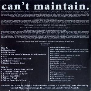 Andrew Jackson Jihad: Can't Maintain (LP) - Bild 2
