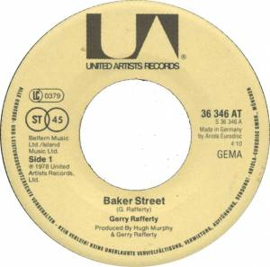 "Gerry Rafferty: Baker Street (7"") - Bild 3"