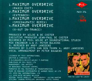 2 Unlimited: Maximum Overdrive (Single-CD) - Bild 2