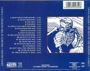 Grave Digger: The Best Of The Eighties (CD) - Bild 2