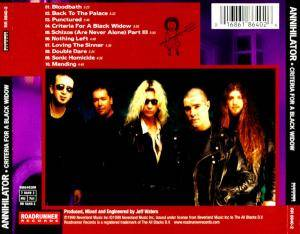 Annihilator: Criteria For A Black Widow (CD) - Bild 3