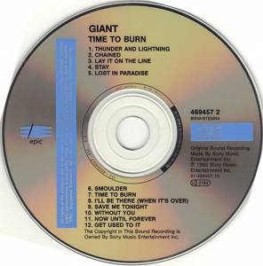 Giant: Time To Burn (CD) - Bild 2