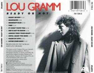 Lou Gramm: Ready Or Not (CD) - Bild 3