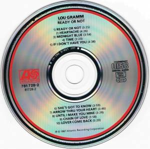 Lou Gramm: Ready Or Not (CD) - Bild 4