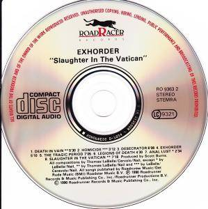Exhorder: Slaughter In The Vatican (CD) - Bild 4