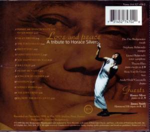Dee Dee Bridgewater: Love And Peace - A Tribute To Horace Silver (CD) - Bild 2