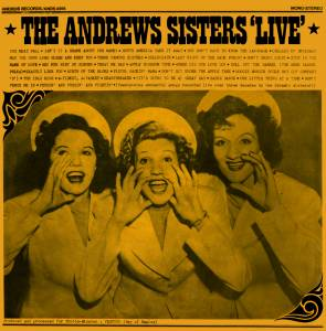 Cover - Bing Crosby & The Andrews Sisters: Live