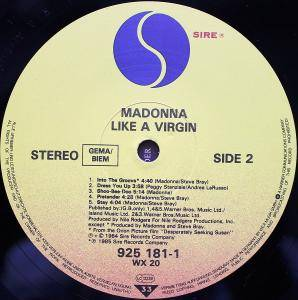 Madonna: Like A Virgin (LP) - Bild 6