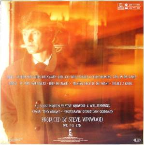 Steve Winwood: Talking Back To The Night (LP) - Bild 2