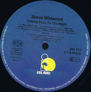 Steve Winwood: Talking Back To The Night (LP) - Bild 4