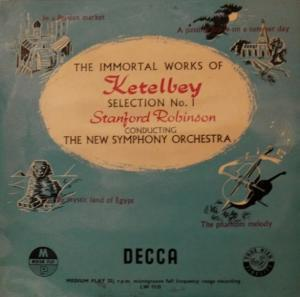 Albert Ketèlbey: Immortal Works Of Ketelbey Selection No. 1, The - Cover