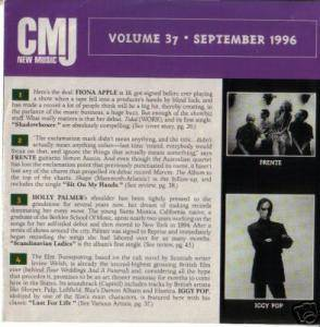 Cover - Squirrel Nut Zippers: CMJ - New Music Volume 037