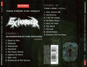 Exhorder: Slaughter In The Vatican / The Law (2-CD) - Bild 5