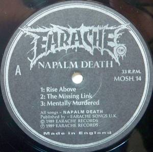 "Napalm Death: Mentally Murdered (12"") - Bild 3"