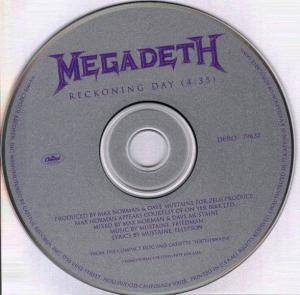 Megadeth: Reckoning Day - Cover