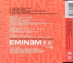 Eminem: The Real Slim Shady (Single-CD) - Bild 2