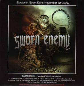 Cover - Sworn Enemy: Maniacal