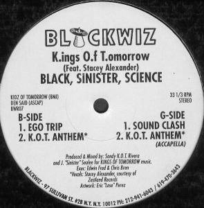 Cover - Kings Of Tomorrow: Black, Sinister, Science EP
